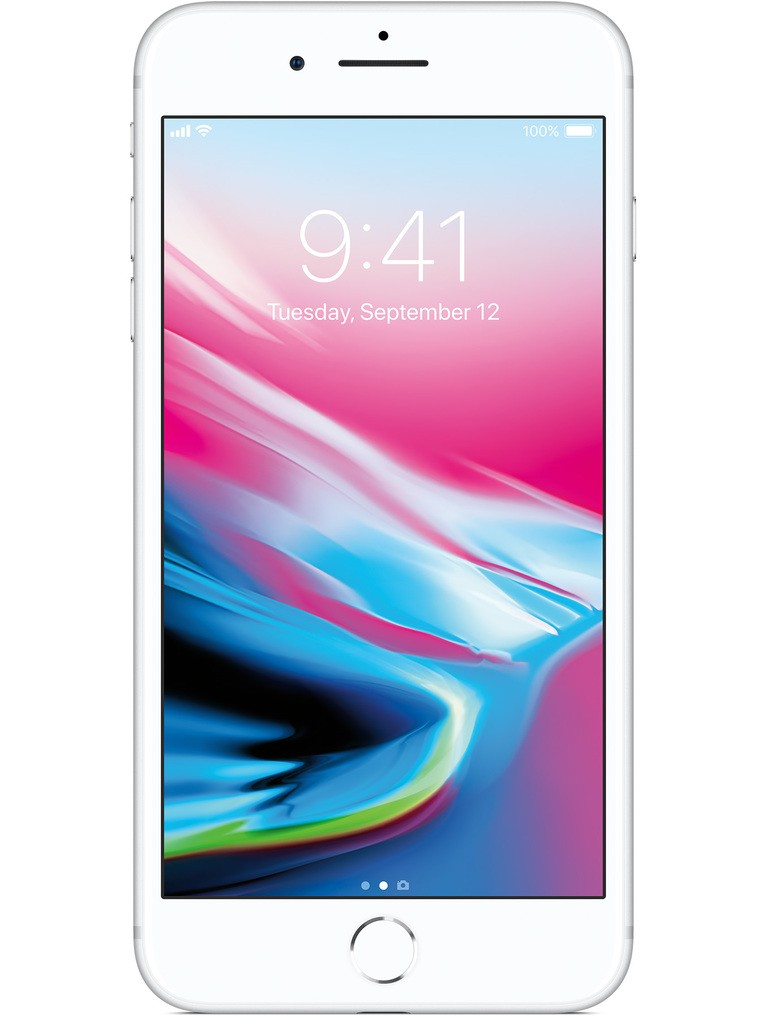 image of Apple-iPhone-8-Plus-front-Silver